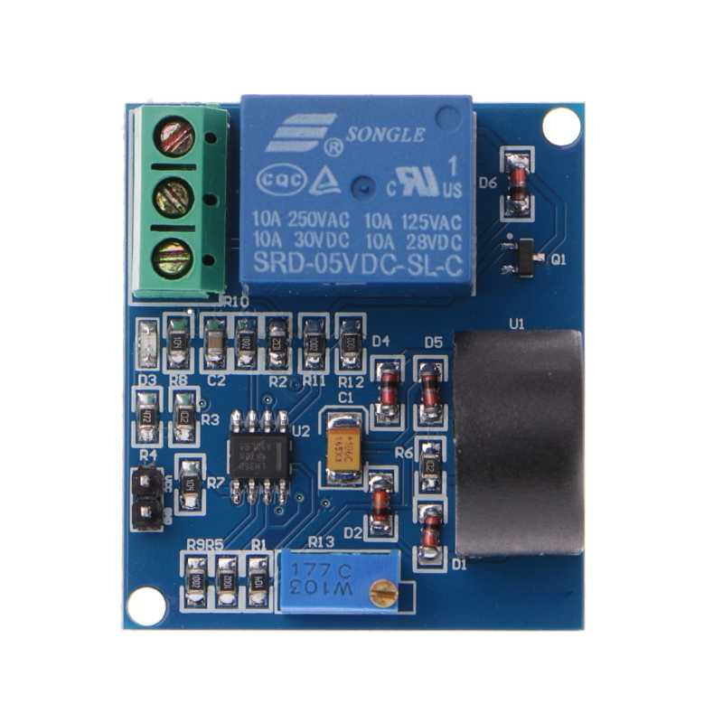5A Overcurrent Protection Relay Module AC Current Detection Board 12V/5V Relay Dls HOmeful