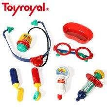 ToyRoyal Kids Hospital Dentist Doctor Kit Classic Role Pretend Play Set Stethoscope Nurse Educational Toys for Children Gift