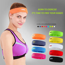 Men Women Sport Running Hair Head Sweat Band Cotton Sweatband High Elastic(China)