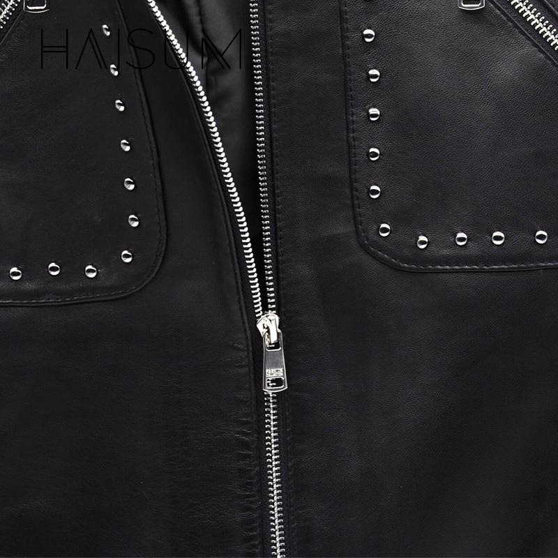 Cintura Bolsillo Mini Faldas Club Black Mujeres Le009 Oveja Piel Cuero Una De Slim 2018 Top Remache Elegante Falda Nuevo Bodycon Natural Haisum 8U0aBYwq
