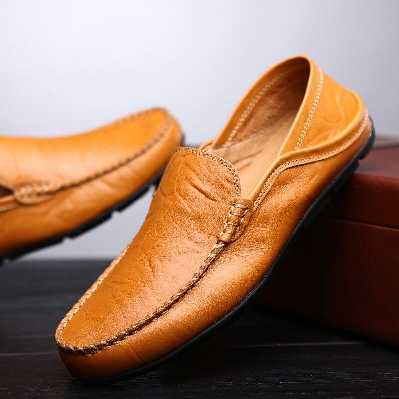 Macias Para Sapatos À Genuíno Moda Liso 37 De Mocassins Feitas Mão Nova Homens Couro photo Photo Tamanho Color Casuais 47 Color Grande PqrBwPz
