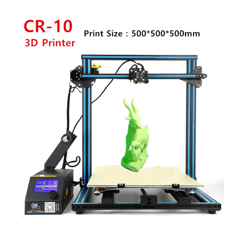 Creality CR-10 3D Printer Print Size 500*500*500mm DIY 3 D Printer Kit Metal Frame With Free Filament +SD Card Free Shipping 2017 easy build 3d printer cr 10 large print size 500 500 500mm with filaments hotbed sd card tools as a gift creality 3d