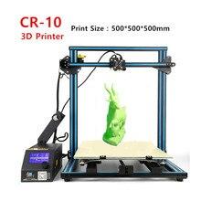 Creality CR-10 3d-принтер для Печати Размер 500*500*500 мм DIY 3 D Комплект принтера Металлический Каркас С Свободной Нити + SD Карты Бесплатно доставка