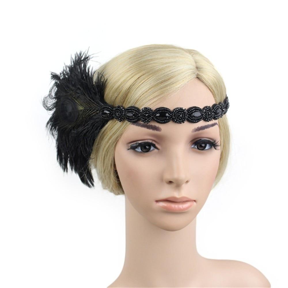 DROPSHIP 2018 New Arrival Fashion Headwear Women Headpiece Feather Flapper Headband Great Gatsby Headdress Vintage Freeship #J06 headpiece