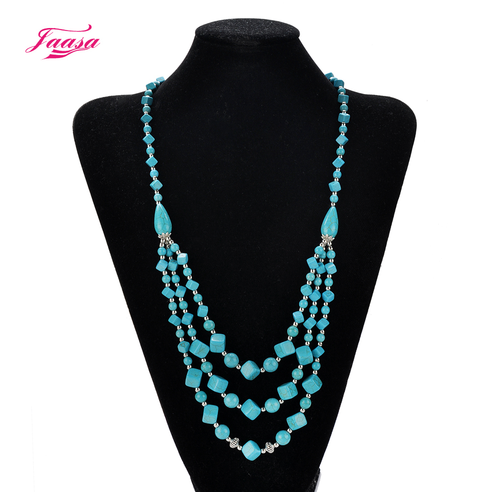 Bohemian style design women fashion charm jewelry green stone statement link chain long necklace Design and style fashion jewelry