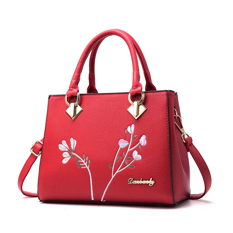 longmiao National Floral Women Messenger Bags Lady Designer PU Leather Embroidery Flowers Crossbody Shouler Bags Sac a Main 6