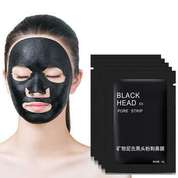310pcs/lot Tearing style Minerals Deep Cleansing purifying peel off Blackhead Close Nose pores facial mask black head pore