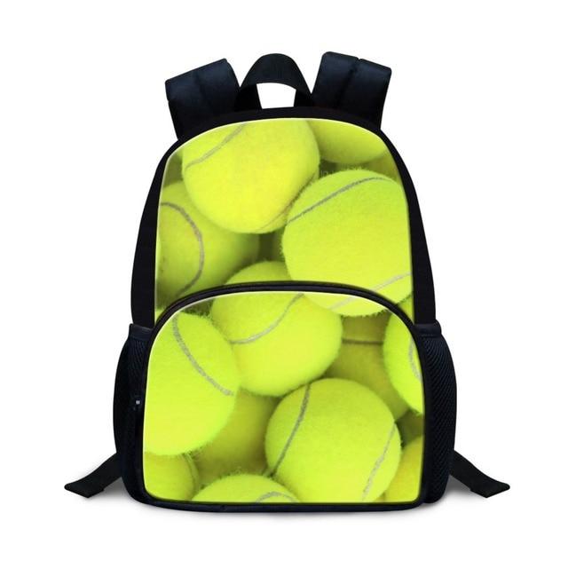 12 Inch Cute Small Backpacks For Little Kids Ball 3D Print Book Bags Children Girls