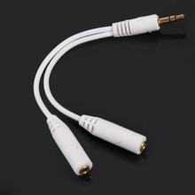 3.5mm Output jack Headphone Audio Splitter Cable Male to 2 Female couples audio line Earbud Headset Headphone Earphone O3