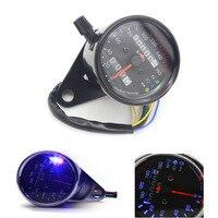 Universal Motorcross Dual Odometer Speedometer Gauge Motorcycle LED Gauge Backlight Signal Light Digital Tachometer For Yamaha