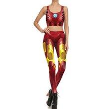 Iron man Bodysuit Bra Suit Cosplay Costume Halloween For Woman Top Jumpsuits