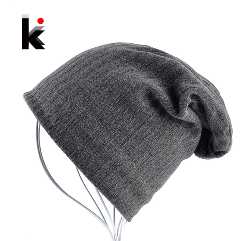 c670e8137a8 2018 Mens Skullies Bonnet Autumn And Winter Cap Beanie Stripe Pattern Hat  Mask Knitted Wool Cotton Beanies Hats For Men