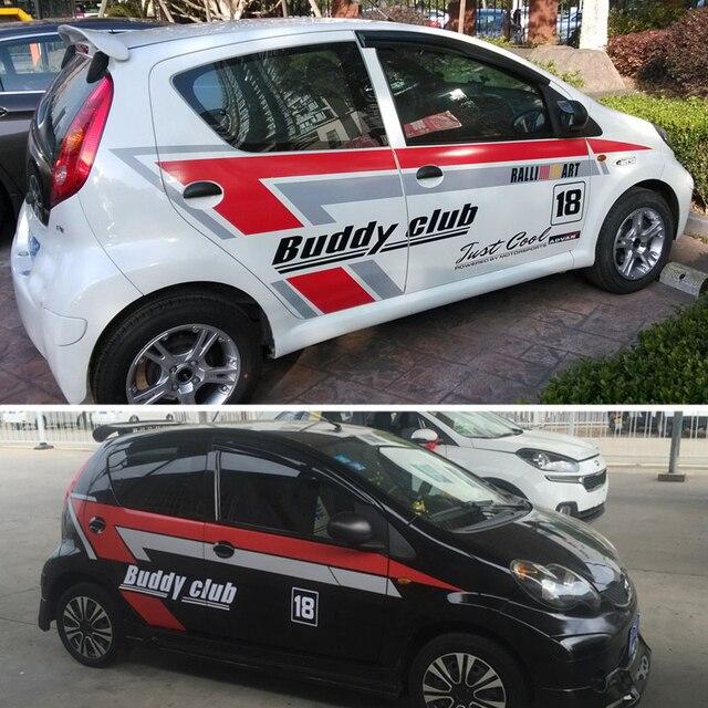 Tailor made car door stickers stripes fleet color change vinyl sport sticker decals for byd