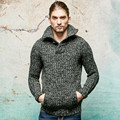 2016 new autumn winter men sweaters brand men thick pullover high quality knit turtleneck sweater plus size S-5XL.Q590