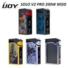 Оригинал ijoy соло v2 pro mod электронной сигареты vape 200 Вт box батареи ni/ti/ss контроля температуры fit ijoy эльф танк 18650 tc модов