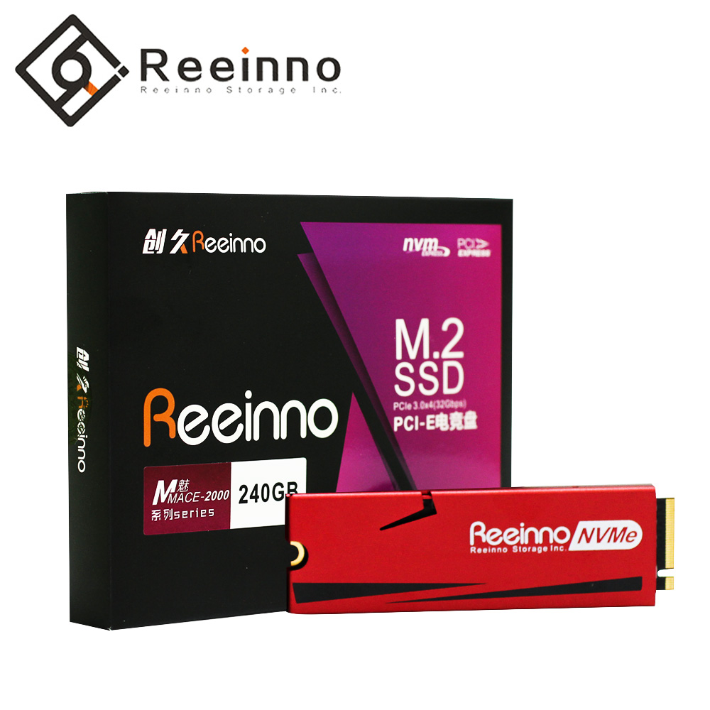 Reeinno Mace-2000 128GB 240GB 480GB M.2 NVMe PCIe 2280 3D NAND 1.8GB/s super speed solid-state driver for Laptop DesktopReeinno Mace-2000 128GB 240GB 480GB M.2 NVMe PCIe 2280 3D NAND 1.8GB/s super speed solid-state driver for Laptop Desktop