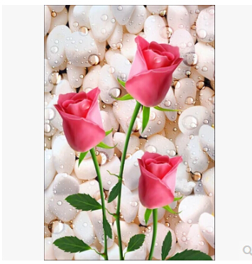 Rose wallpaper hd 3d impremedia rose drops hd wallpaper 3d entrance corridor tulip wallpaper mural wallpaper aisle vertical version in thecheapjerseys