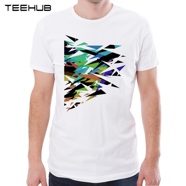 Hipster T Shirt Design | Teehub New Arrival 2019 Men Fashion Abstract Geometric Art Printed T