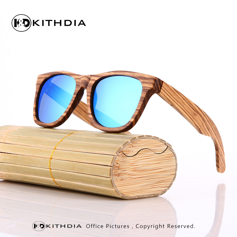Zebra Wood Sunglasses Men Bamboo Sun glasses Polarized Brand Designer Mirror Original Wood Sunglasses Oculos de sol masculino óculos de sol de madeira