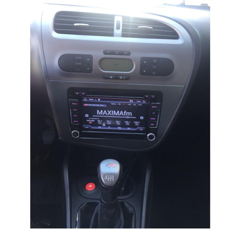 Double Din Radio Frame för Seat Leon 2005-2012 Head Unit Fascia GPS - Reservdelar och bildelar - Foto 2