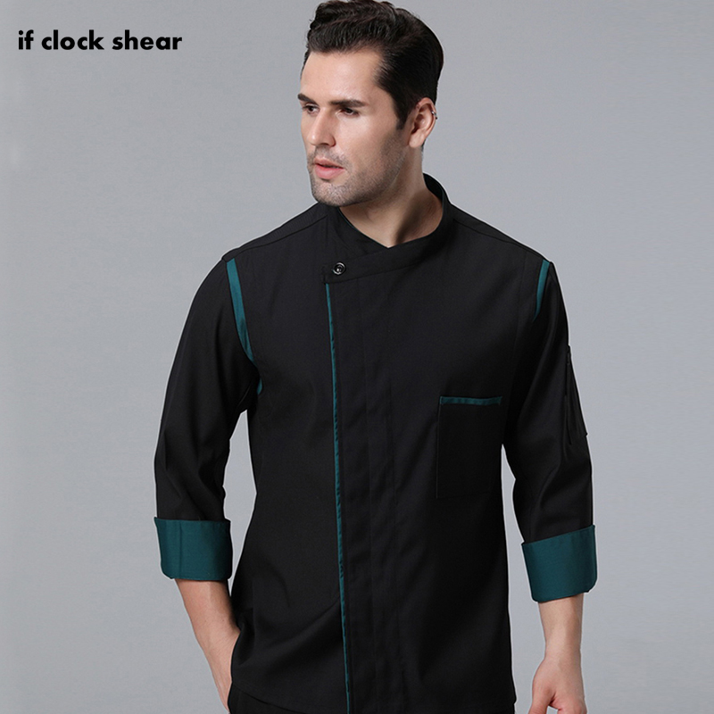 2019 New Color Wholesale Unisex Kitchen Chef Restaurant Uniform Shirt Breathable Double Breasted Dress Chef Jacket Chef Works(China)