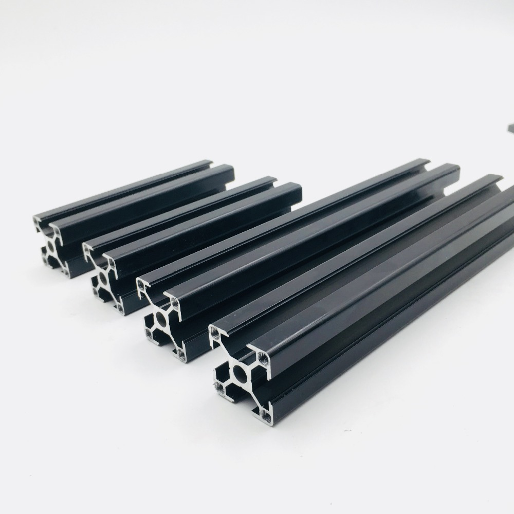 Reprap Prusa i3 MK3 Black anodized Aluminum extrusions kit 3030 profiles-in 3D Printer Parts & Accessories from Computer & Office