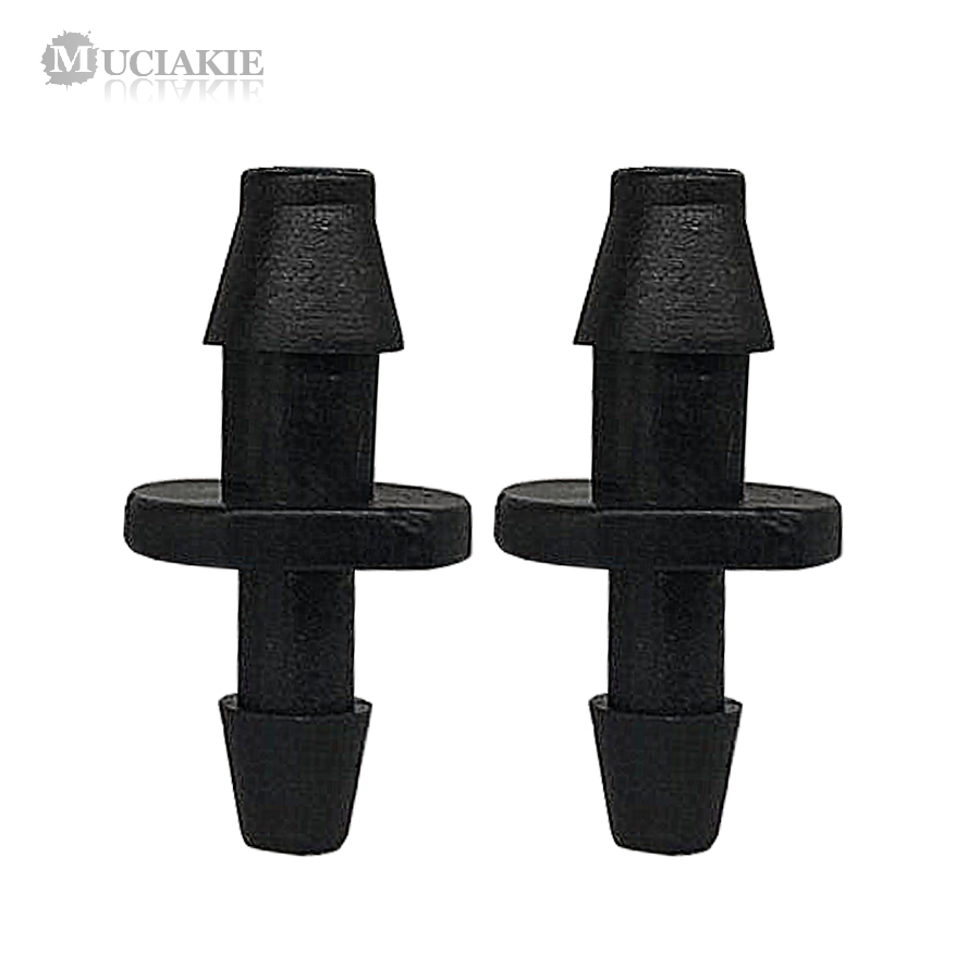 MUCIAKIE 30PCS 1/4'' To 1/8'' Reduction Equal Barb Connecters 4/7mm To 3/5mm Reduced Micro Garden Irrigation Straight Adaptor