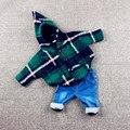 2015 new moi boys jackets and coats children outwear wool coat kids plaid jacket moi baby winter jacket girl jaket