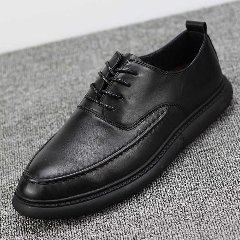 Men 39 s leather retro business casual shoes mens soft bottom cowhide fashion shoes spring autumn summer men natural loafers shoes in Men 39 s Casual Shoes from Shoes