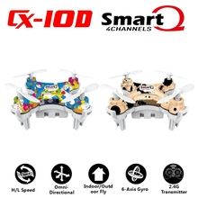 Newest Cheerson CX-10D Quadcopter Small Size Mini Drone 2.4GHz 6-Axis RC Helicopter With 3.7V 150MAH Battery