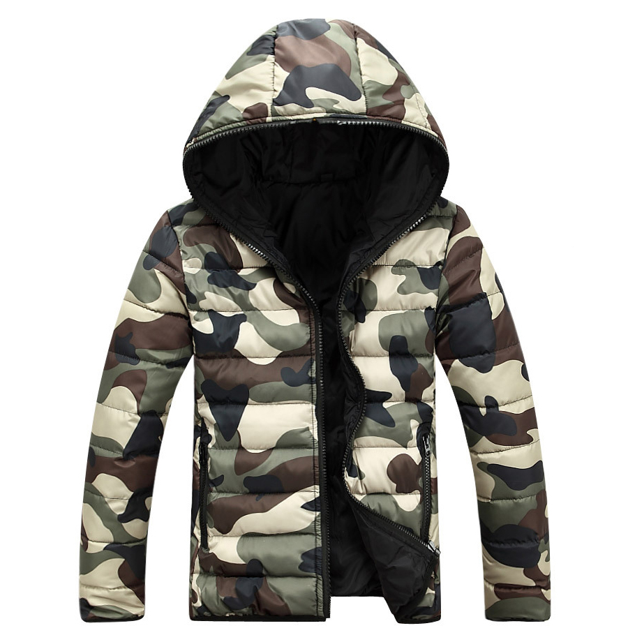 Camouflage Winter   Down   Jacket   Coats   Men 2019 Mens Doudoune Homme Hiver Marque With Hood