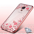 New Rhinestones Transparent Soft TPU Plating Case For Meizu M3S mini Cases Meizu M3 note Case M2 mini MX6 Pro 6 M3E U10 Cover
