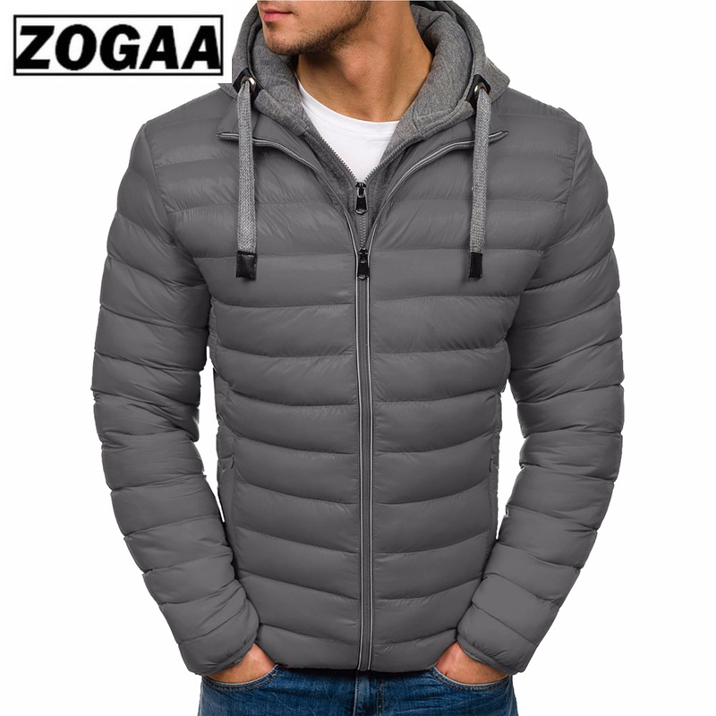 ZOGAA Winter Jacket Men Clothes 2018 New Brand Hooded Parka Cotton Coat Men Keep Warm Jackets Fashion Coats(China)