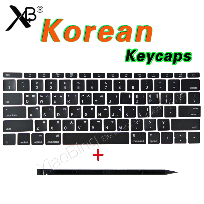 New For Macbook Pro Retina 13 15 A1706 A1707 A1708 KR Korean Korea Keyboard Key Cap Keycaps 2016 2017 image