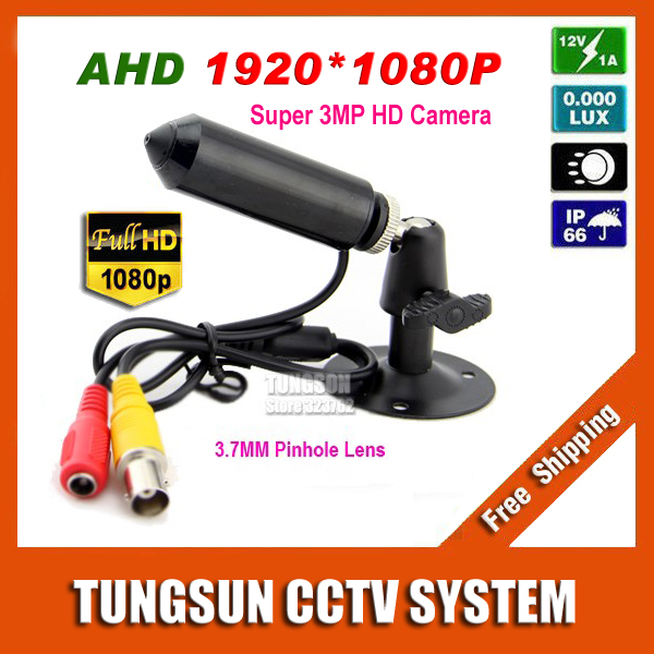 New Super HD AHD 3MP Mini CCTV 1920*1080P Micro Surveillance Small Vandal-proof Bullet Security Camera 3.7mm pinhole lens gotake mini security camera cctv ahd 1080p 3 7mm pinhole lens 1 3 ccd wired surveillance analog video bullet type with stand