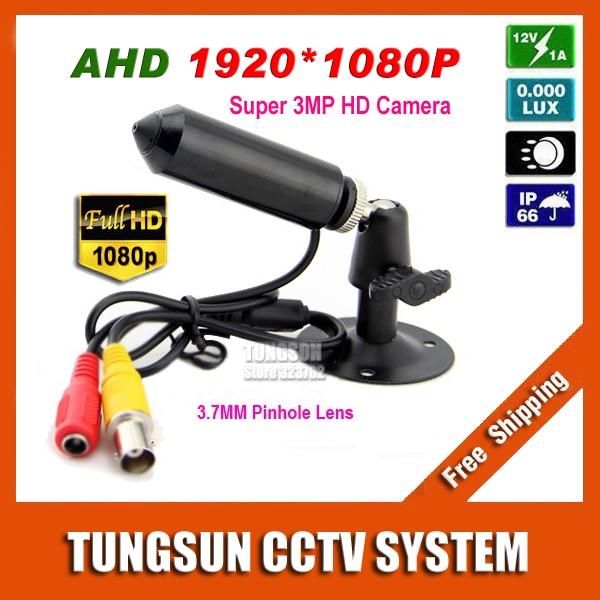 New Super HD AHD 3MP Mini CCTV 1920*1080P Micro Surveillance Small Vandal-proof Bullet Security Camera 3.7mm pinhole lens экшн камера ridian bullet hd 3 mini