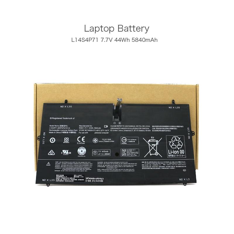 4 Cells 7.7V 44Wh 5840mAh L13M4P71 L14S4P71 Original Laptop Battery for Lenovo Yoga 3 Pro 1370 Series Ultrabook Batteries Pack original laptop batteries for t410s t400s battery 59 42t4832 42t4689 battery 44wh