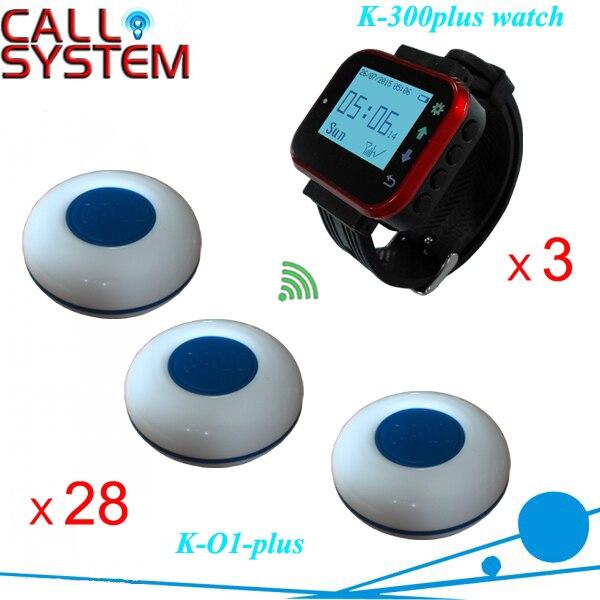 Wireless di paging del sistema di servizi di ordinare 3 orologio ricevitore 28 pz single-campana chiave per attrezzature per la ristorazione