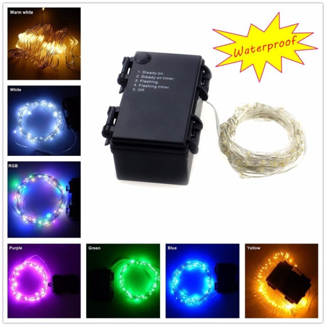 Newest Indoor And Outdoor Decorative 6m 60 Leds Waterproof Battery Operated Led String Lights Flashing Strip With Timer