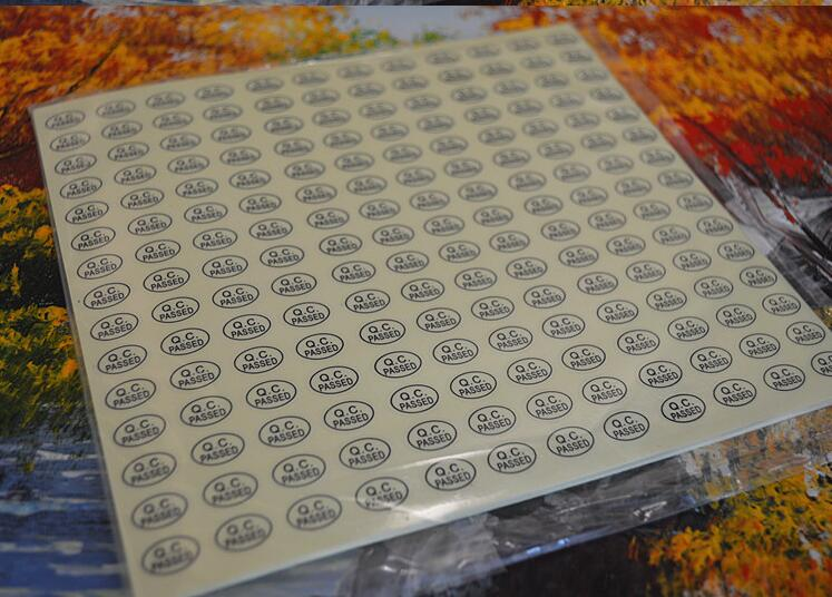 2700pcs/lot Green/Gold Color Oval Coated Paper Warranty Label QC Adhesive Label Sticker Custom Label Sticker QC PASSED Stickers