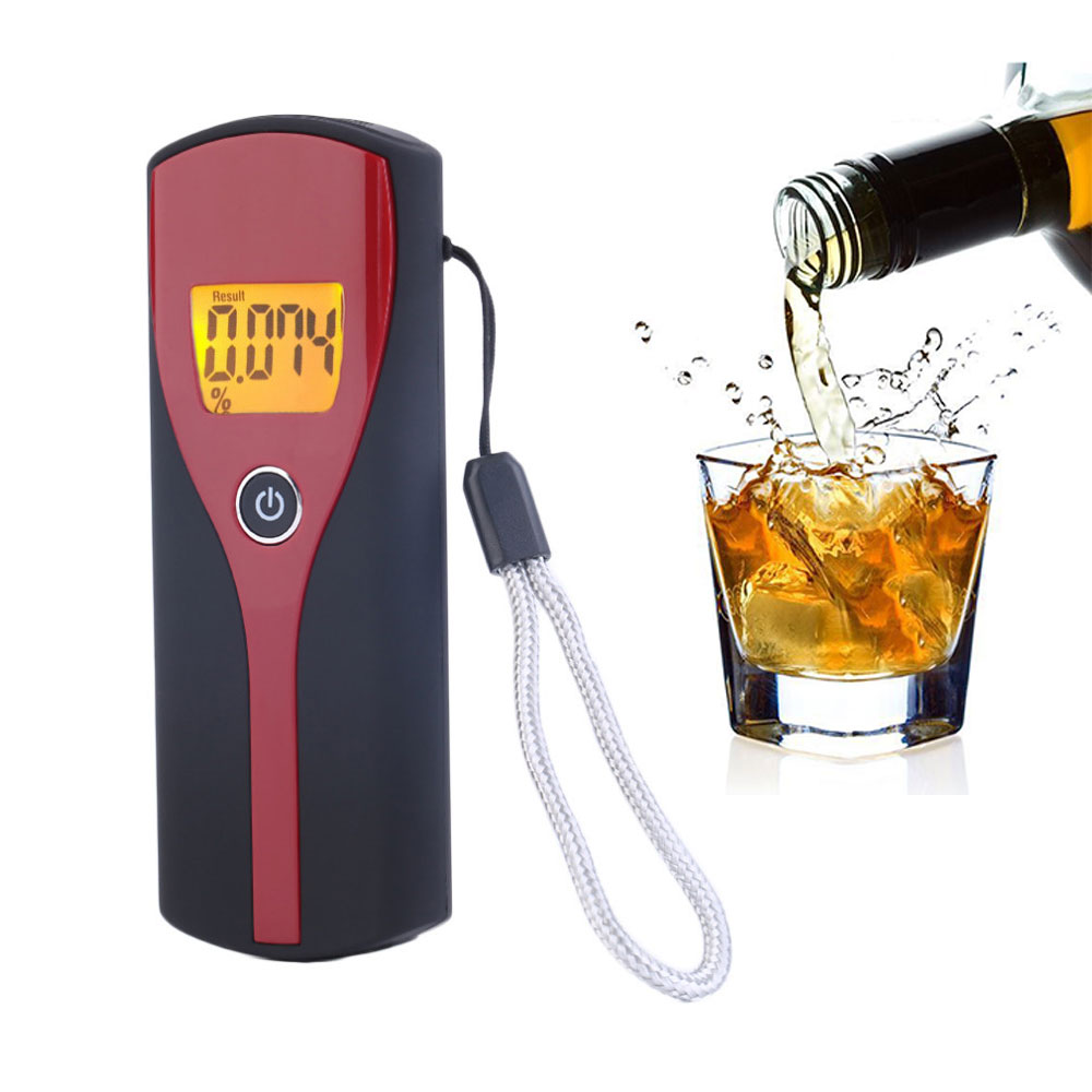 Professional Alcotester Digital Breath Alcohol Detector Breathalyzer Portable Alcohol Tester Free shipping Dropshipping dentyl active alcohol free mouthwash 500ml