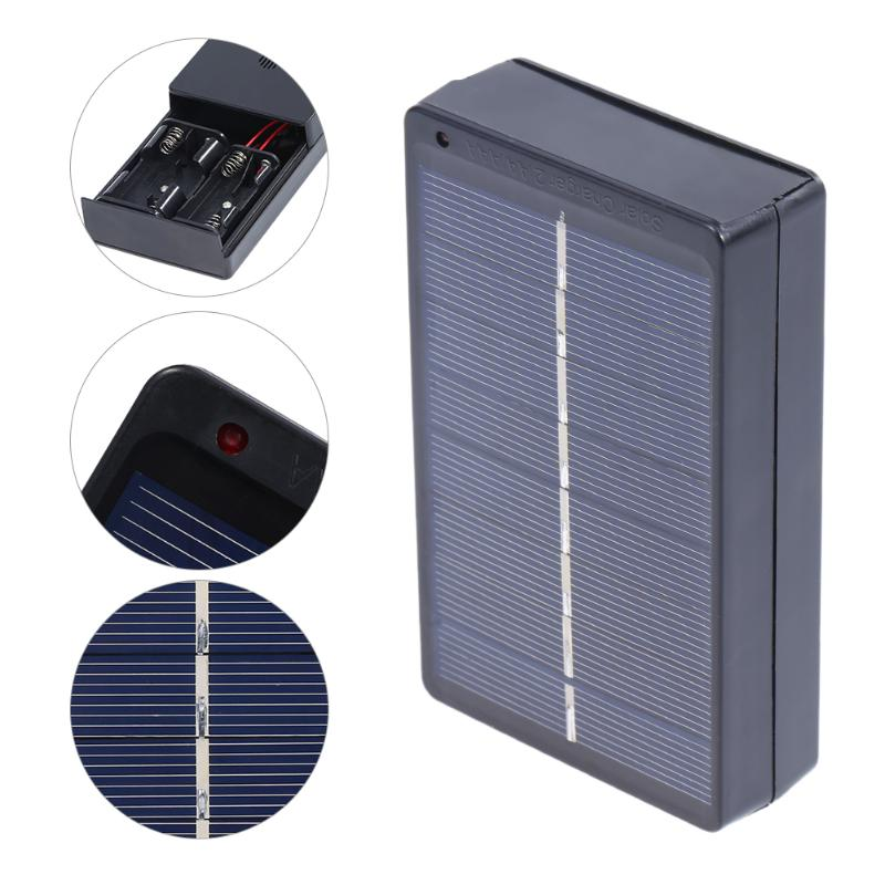 1W 4V Solar Panel Board Battery Charger Energy Charging Charger Powerbank Box for 2xAA/AAA Rechargeable Battery