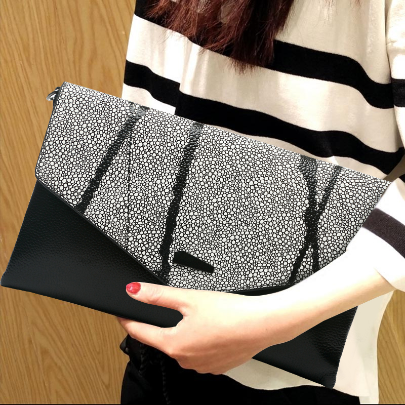 2017 nouveau femmes Banquet pochette dames sac à main chaîne sac à bandoulière sac à main en cuir véritable Long portefeuille soirée fête sacs à main