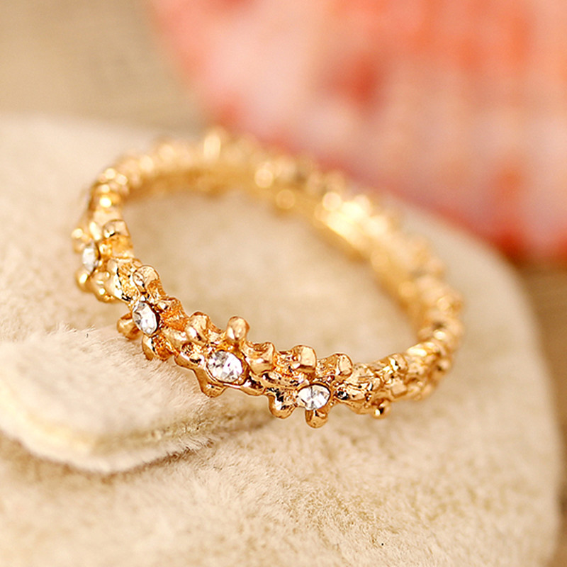 R147 Flower Crystal Rings For Women Fashion Jewelry Anillos Anel Bijoux Wedding Engagement Ring HOT Sale