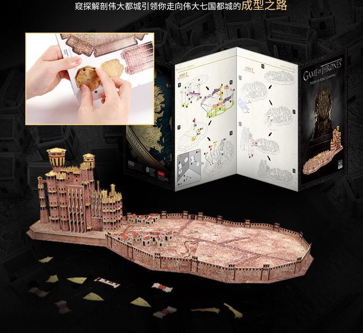 CubicFun 3D puzzle en papier modèle de construction assembler main travail jeu jouet roi de débarquement Architecture célèbre château construire Place 1 pc - 5
