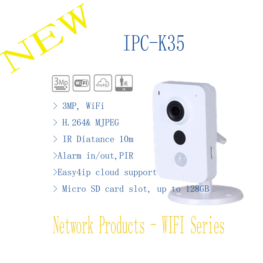 In Stock Free Shipping DAHUA Security IP Camera WIFI Camera CCTV 3MP K Series Wi-Fi Network Camera Without Logo IPC-K35 in stock dahua free shipping 4 ch unit net distributor without logo vtna1040b