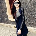 Trench Coat para As Mulheres 2016 Moda Turn-down Collar Magro Patchwork Primavera Casaco Sobretudo As Mulheres