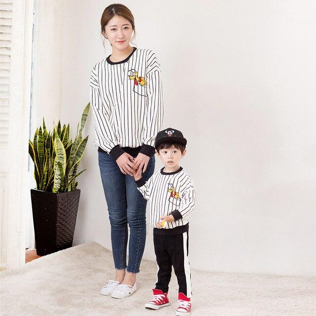 Us 2799 Moeder Vader Zoon Outfits Kleding Vader Moeder En Dochter Kleding Familie Bijpassende Pyjama Uitloper T Shirt Truien Jas Kleding In Moeder