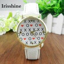 Irisshine B08 марка роскошные женщины часы часы леди подарок Горячая пояс женщин смотреть маленькое любовное письмо Я опаздывал в любом случае Смотреть
