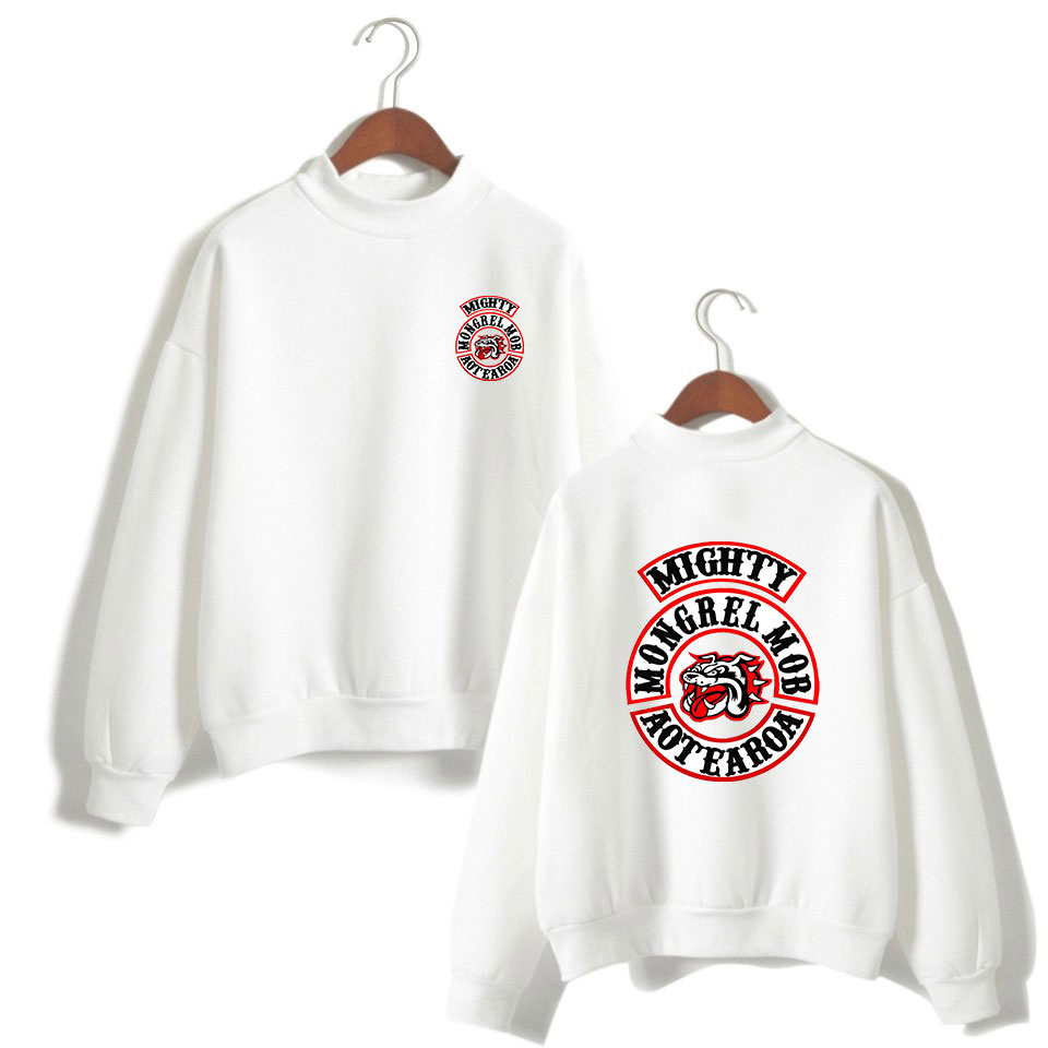 BTS Women Clothes Capless Mongrel Mob Turtlenecks Long Sleeve Kawaii Sweatshirts Tops Harajuku Print Plus Size 4XL A10197